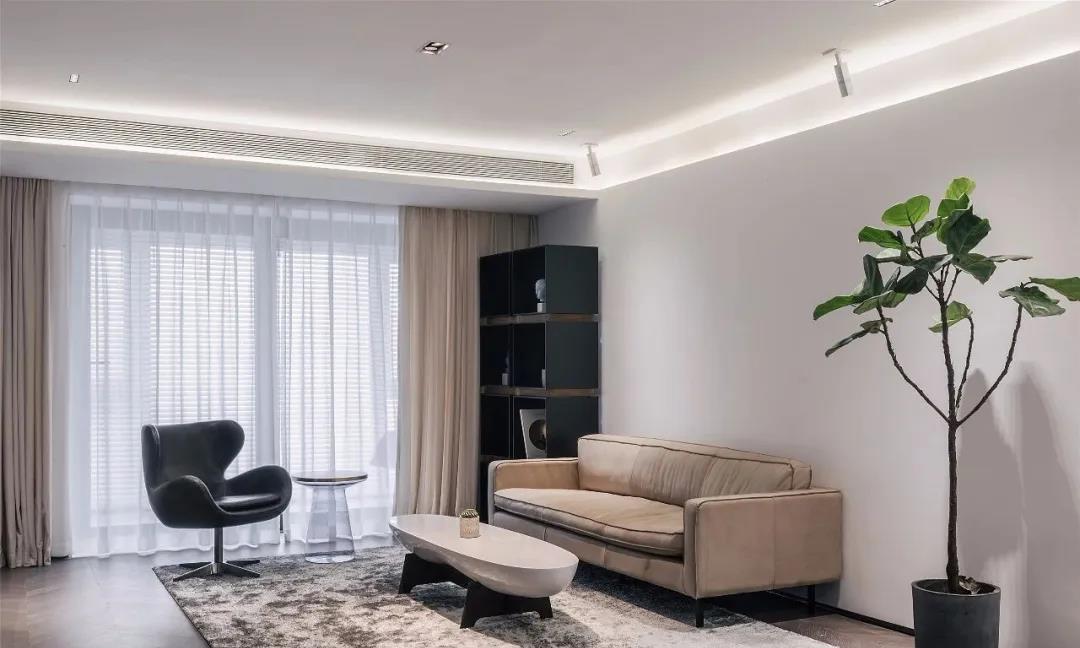 150㎡极简风私宅,真正打动人的设计,是用细节描绘生活的温度
