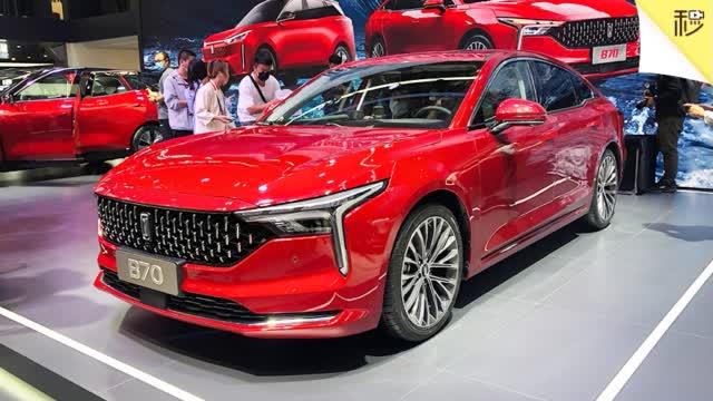 自主品牌中级车 奔腾B70北京车展实拍
