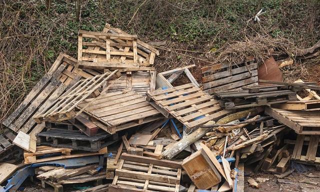与其当破烂,干脆把一个个木托盘拿回家,随便种菜养花还是当沙发