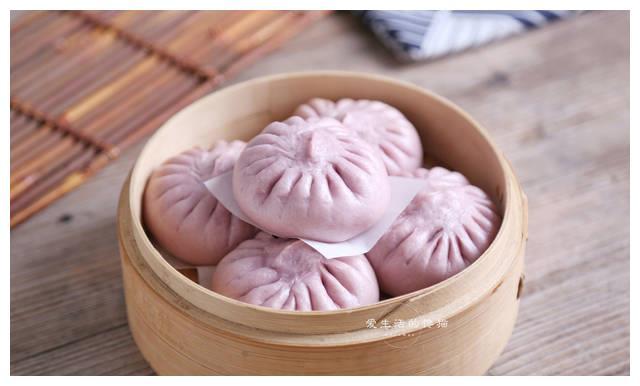 网红紫米炼乳包,详细做法告诉你,个个都是软胖子,放3天也不硬