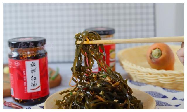海带丝的简单做法,香辣脆爽无腥味,做法简单零难度,5分钟搞定