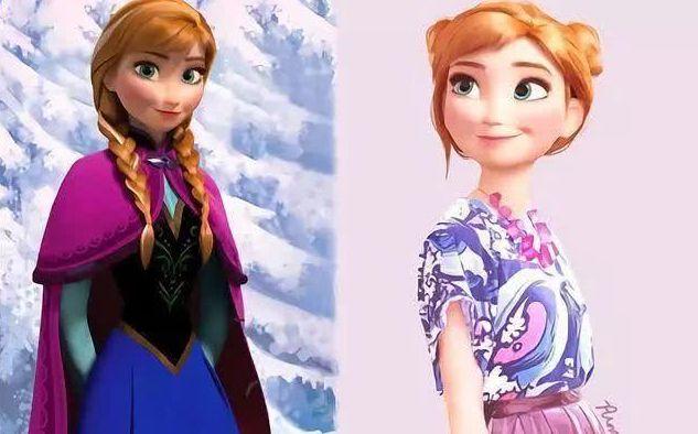 """当迪士尼公主穿上""""潮牌"""",花木兰颜值逆袭,艾莎短裙尽显魅力"""
