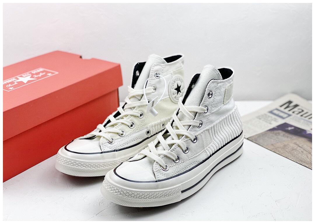 Converse Chunk 1970s 匡威 奶白拼接 布面拼接 高帮硫化帆布鞋