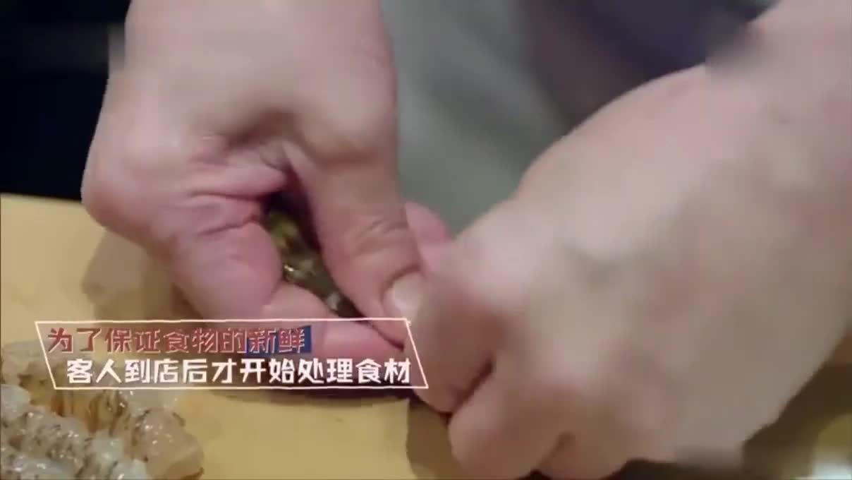 谢霆锋带霍汶希吃天妇罗,叮嘱她-再投诉就把她给油炸了!