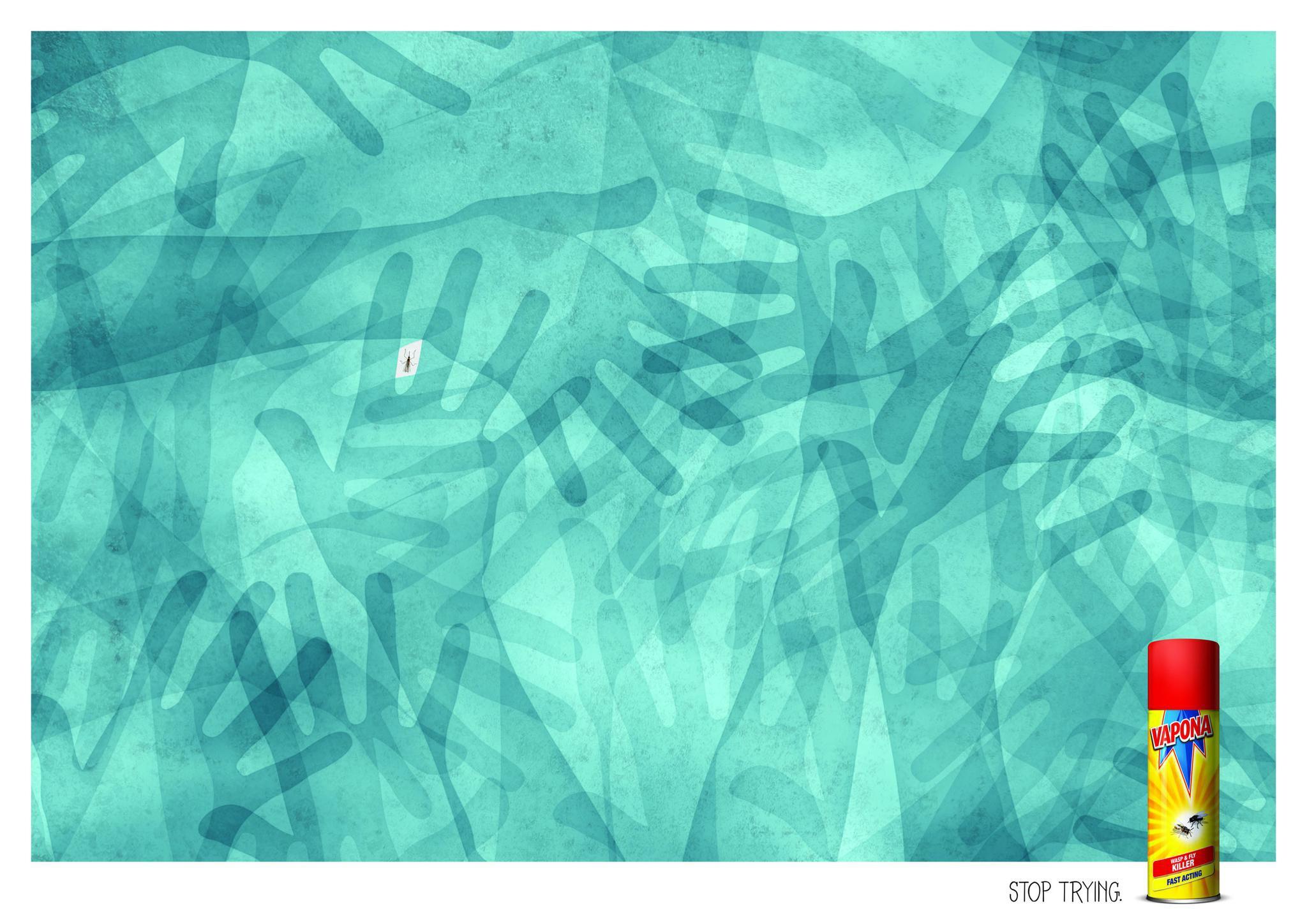 Vapona杀虫剂的创意设计插图