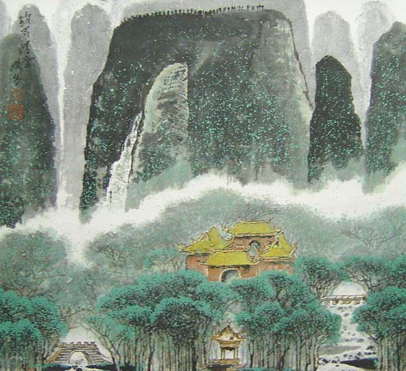 张步国画风景作品欣赏(图)