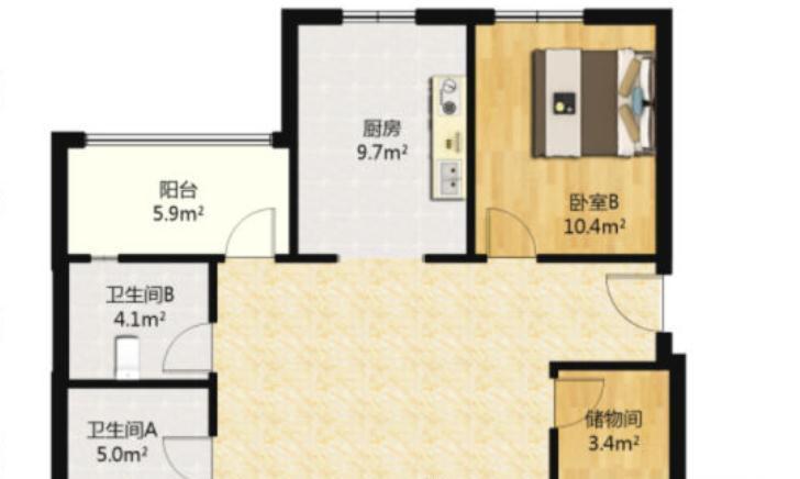 135㎡简欧三居室,阳台打通并且装上落地窗,杂物房改成衣帽间