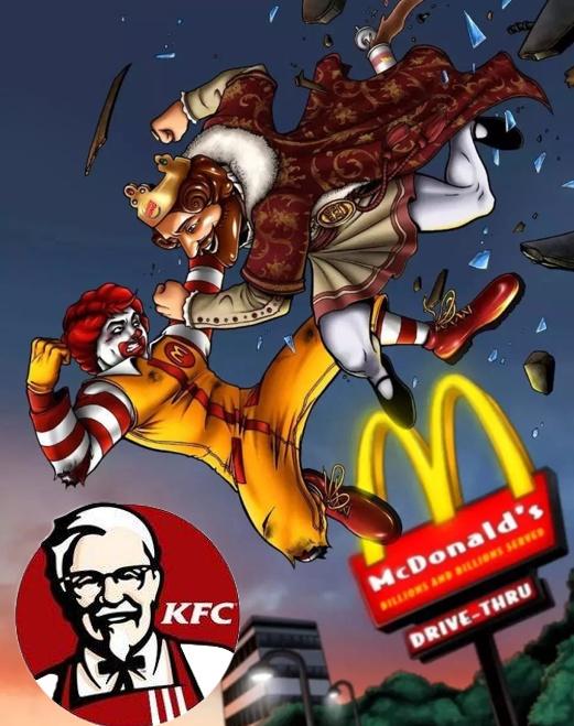 相爱相杀的麦当劳、汉堡王,一旁的吃瓜群众肯德基躺赢