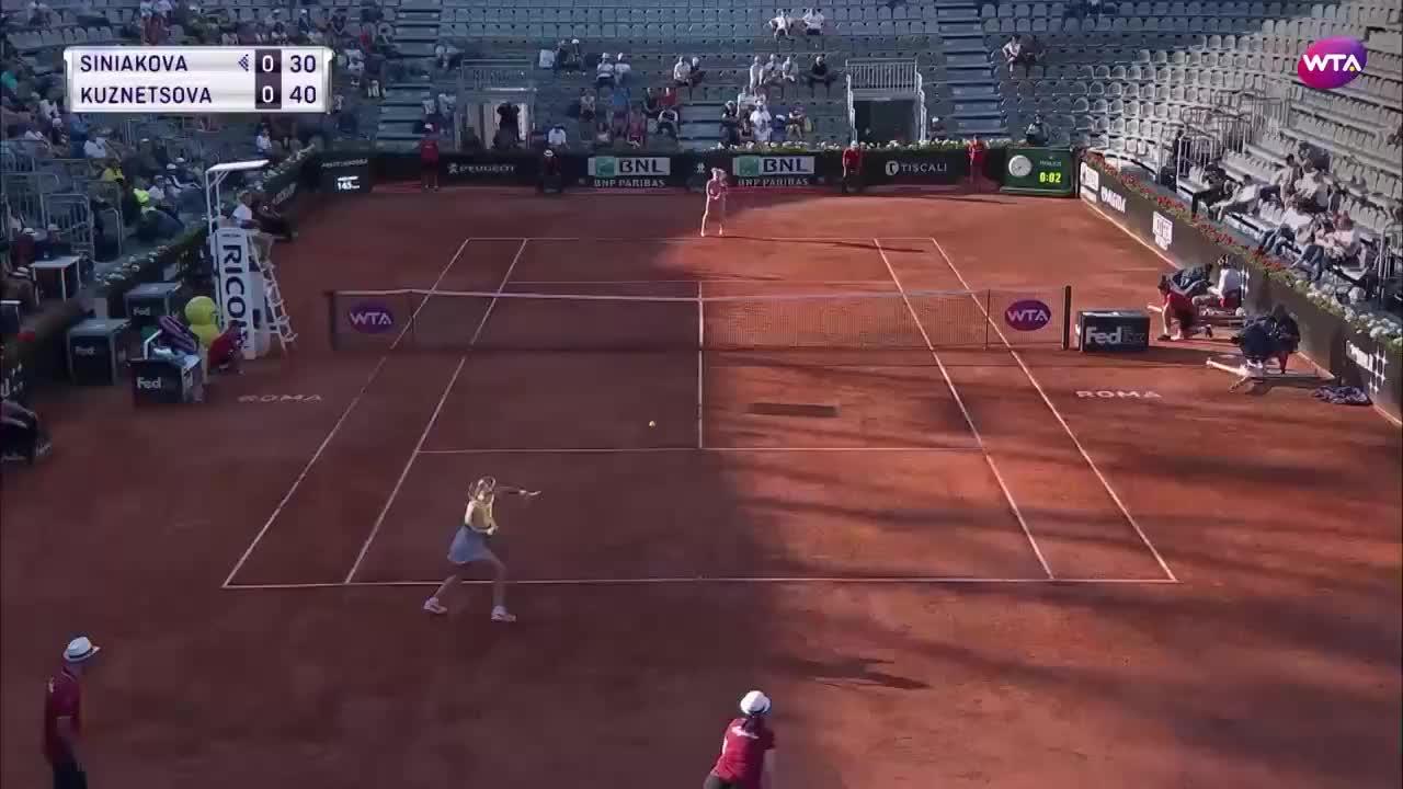 罗马站女单第二轮HL:库兹涅佐娃vs西尼亚科娃
