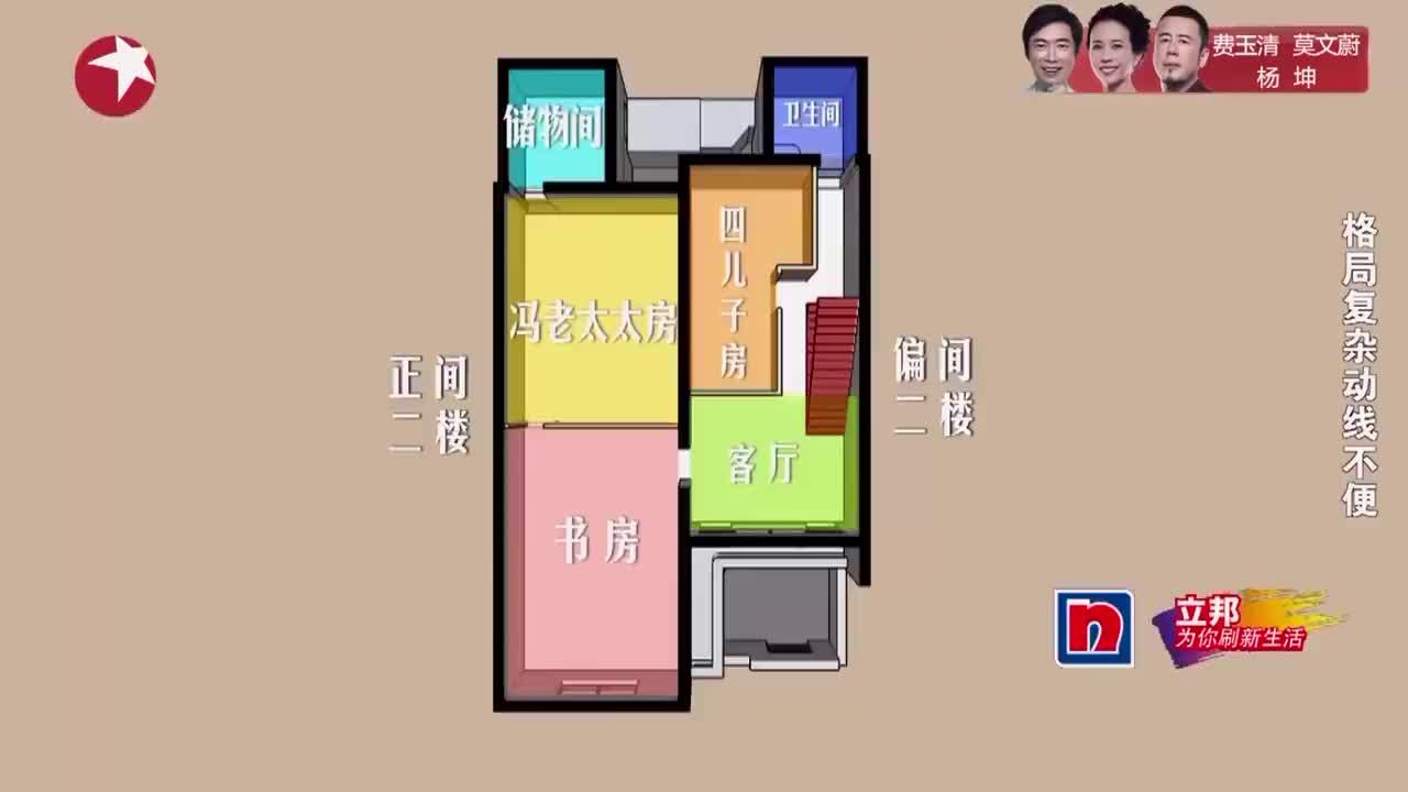 梦想改造家:百年老宅格局太复杂,楼梯很陡,到处都是防盗门!