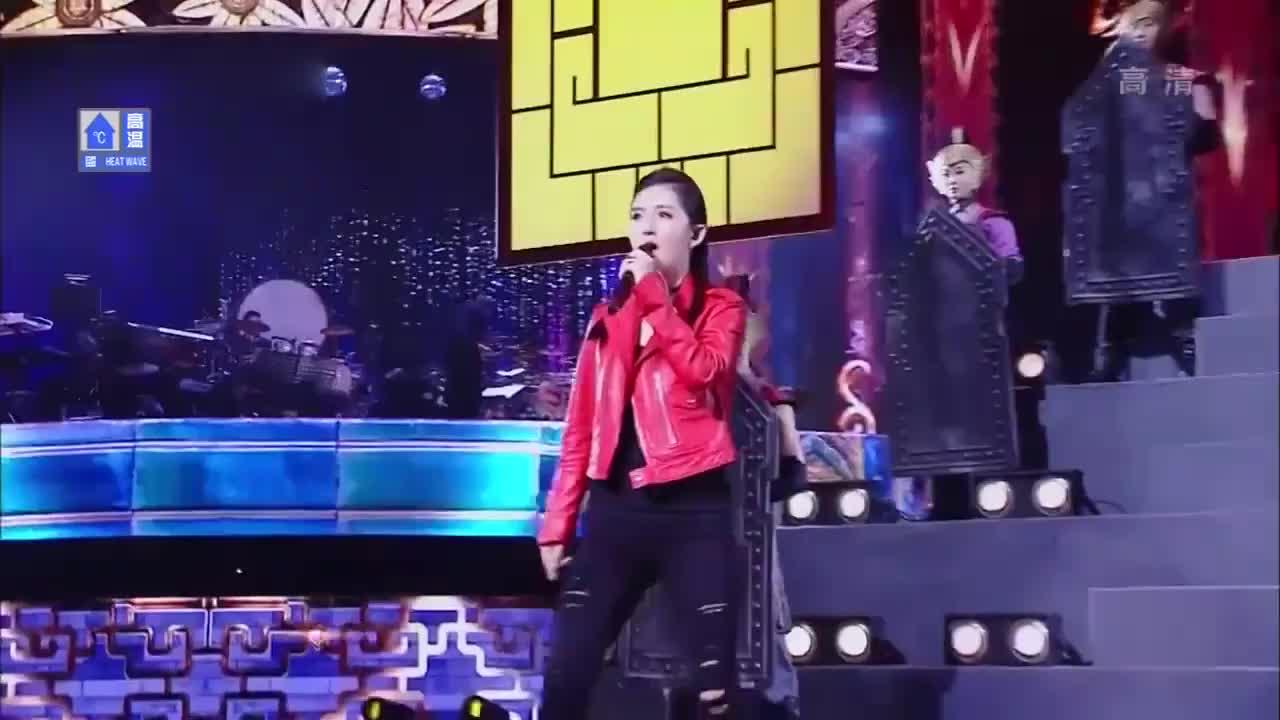跨界歌王:谢娜演唱《将军令》,戏腔太帅了,唱功快赶上张杰了!