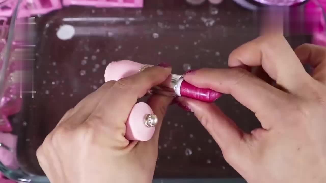 粉色系列化妆品、亮片、起泡胶等混泥,无硼砂,解压又治愈