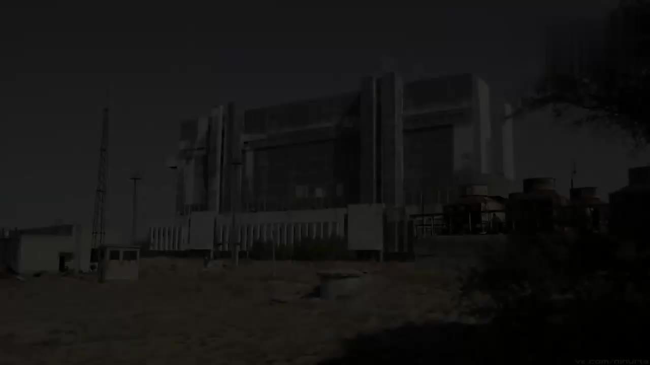 废弃的苏联暴风雪号航天飞机 调试组装厂房