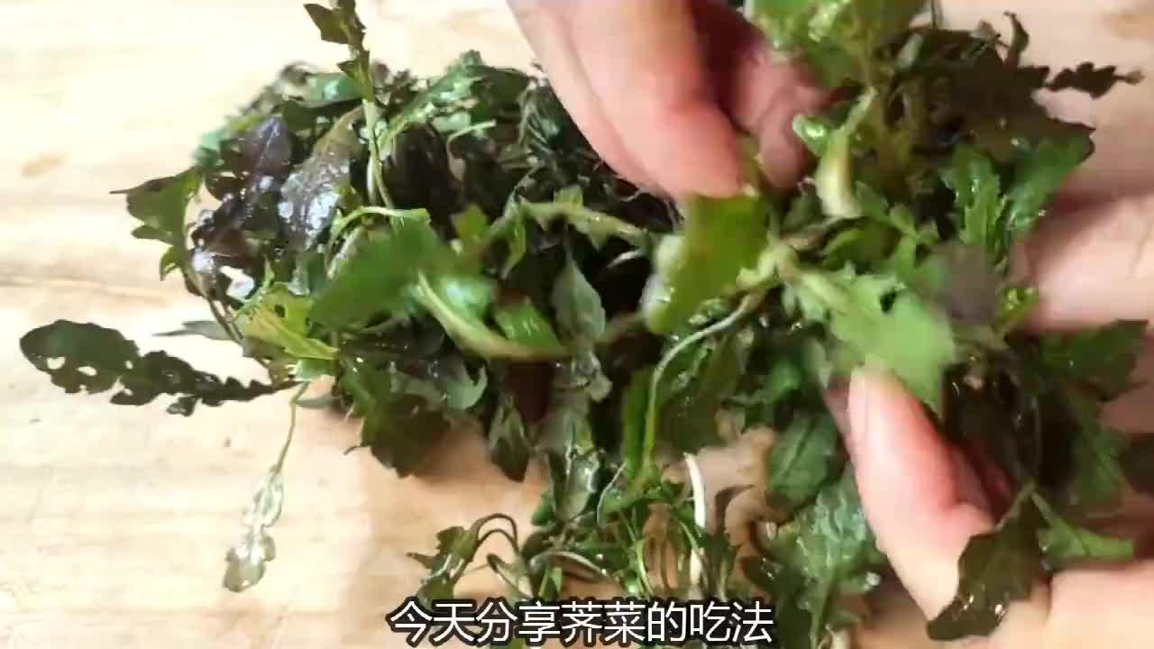 野生荠菜最好吃的做法,清香鲜嫩美味,出锅吃到停不下筷子