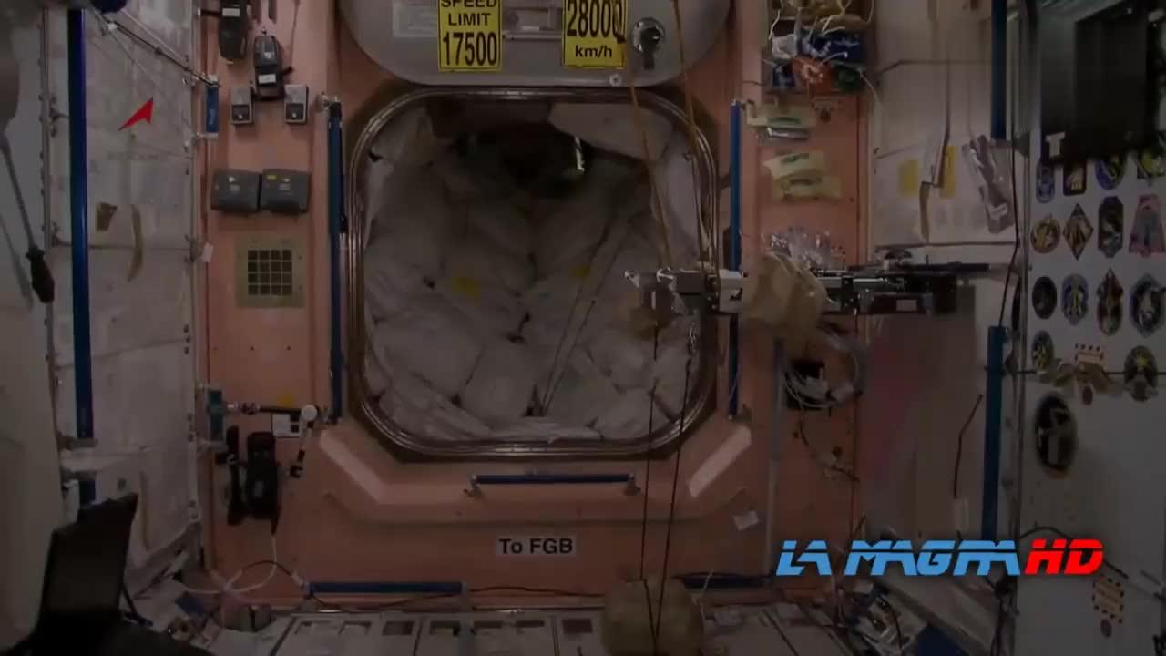 国际空间站舱影像 宇航员的一天 科研实验的好地方
