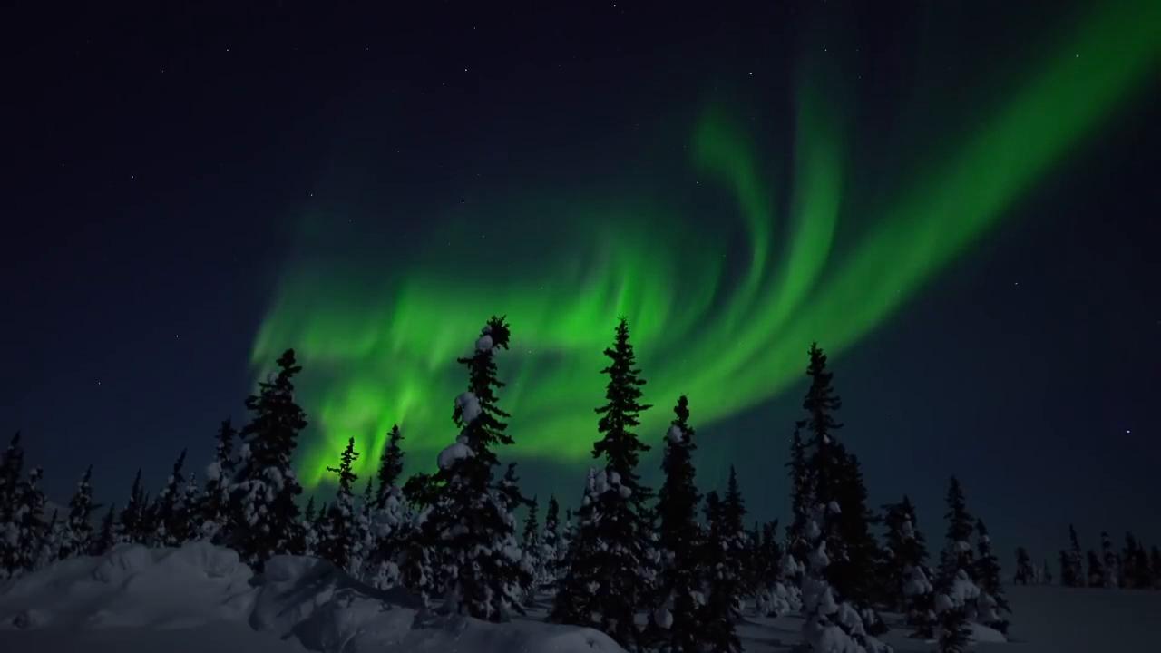 太美啦!这是来自阿拉斯加的北极光