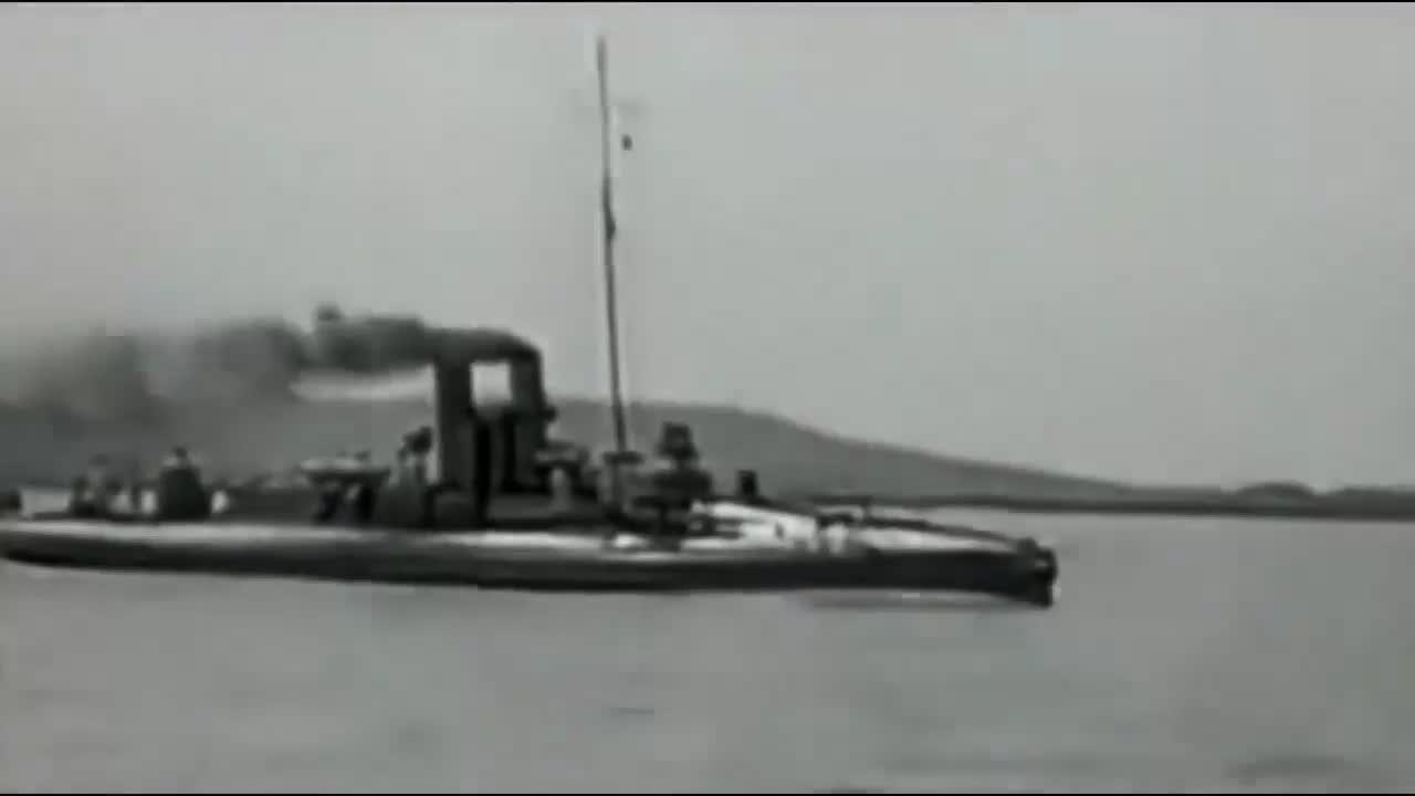 珍贵影像:来看看民国时期海军鱼雷艇是怎么发射鱼雷的?