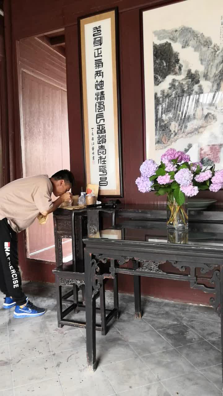 在汤显祖纪念馆排练昆曲,角儿和跑龙套的区别很明显