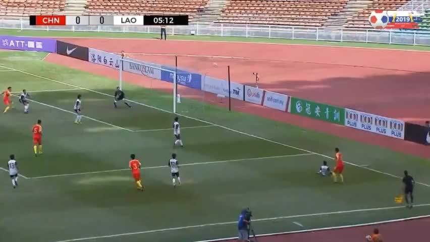 奥预赛-杨立瑜双响张玉宁替补两助,中国国奥5-0大胜老挝