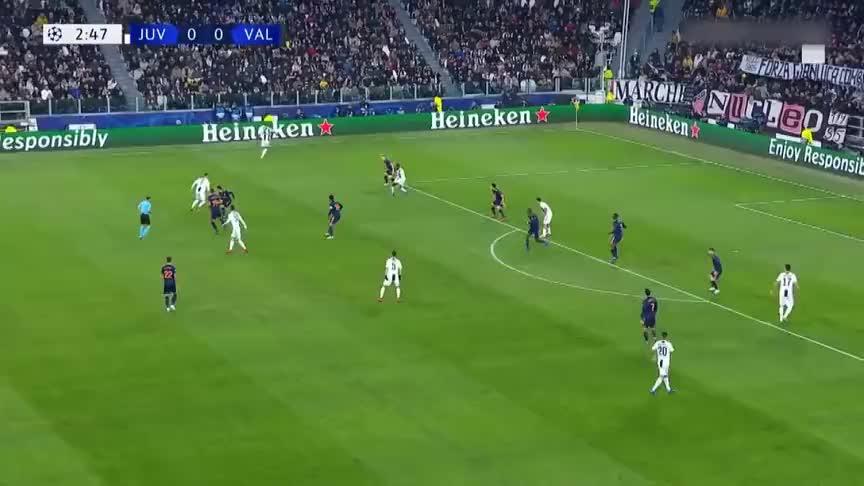 尤文欧冠1-0瓦伦西亚 曼朱基奇连场建功C罗又献助攻