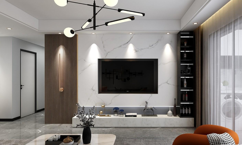 118㎡现代轻奢三居室,极简舒适,美得很高级