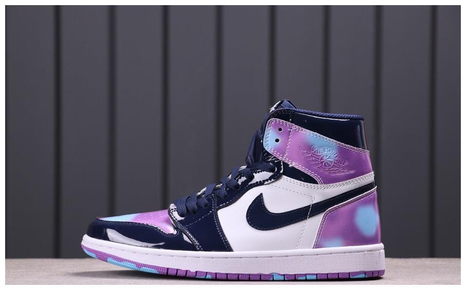 """Air Jordan 1 """"Tie-Dye""""乔1高帮彩色镜面"""