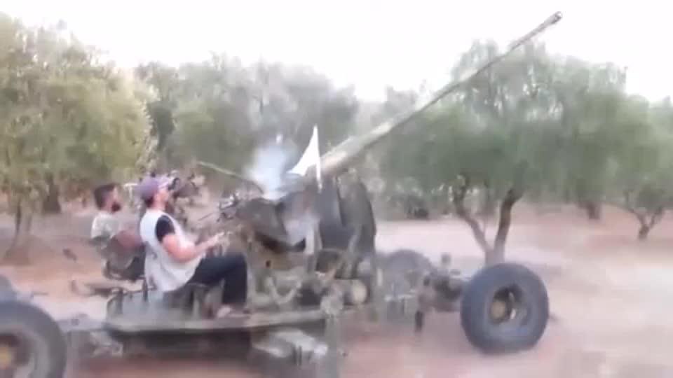叙利亚战争实录这是什么高射炮还可以连发炮弹