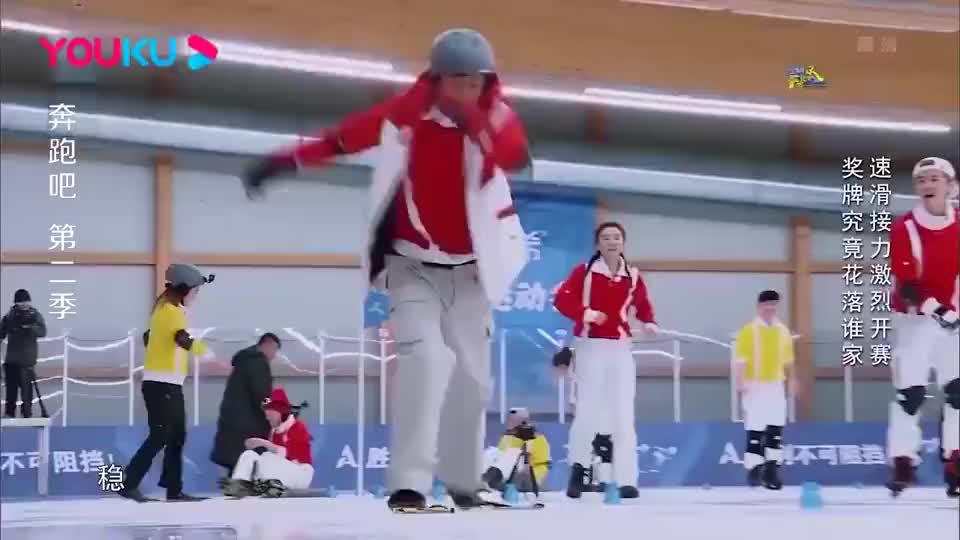 跑男:邓超穿脚蹼地面滑行,竟滑出心得,节目组后期特效太皮了