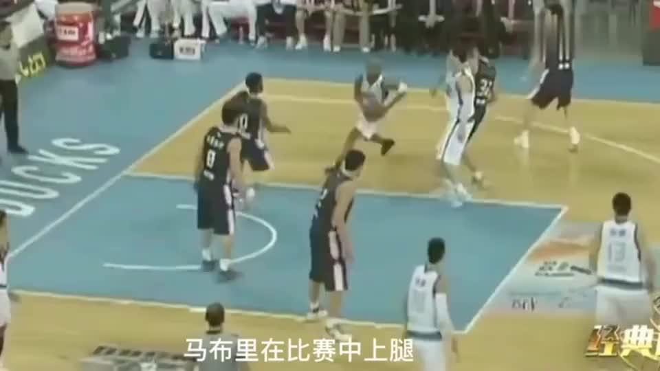 CBA总决赛马布里恶意上腿,李春江大吼队员:给他掀翻!