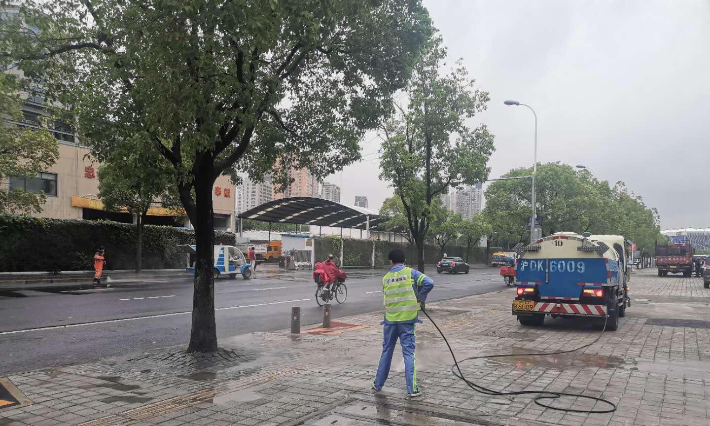 """干净整洁!黄浦城发集团全力保障""""外滩金融峰会"""""""
