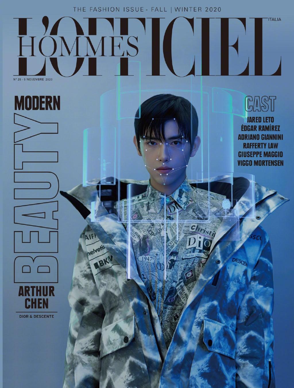 陈飞宇意大利版L'Officiel Hommes 11月刊封面大片