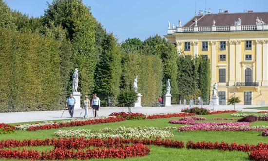 奥地利维也纳 秋至美泉宫