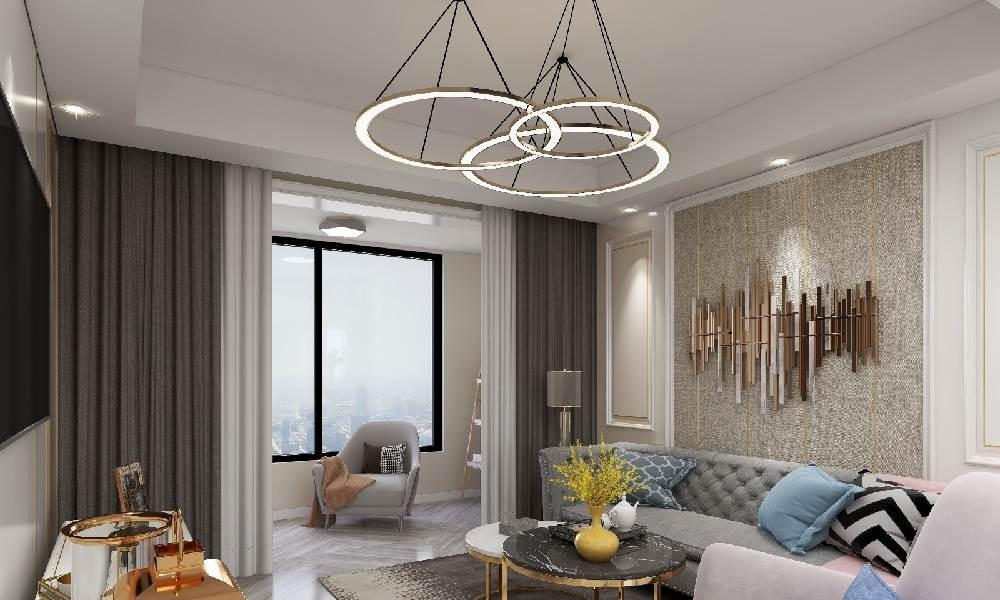 上海经纬学士逸居家园86平米现代简约风格房屋装修案例