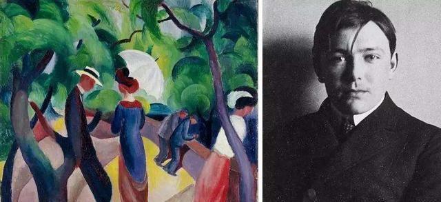 奥古斯特·马克在世27年,代表作由苏黎世美术馆收藏