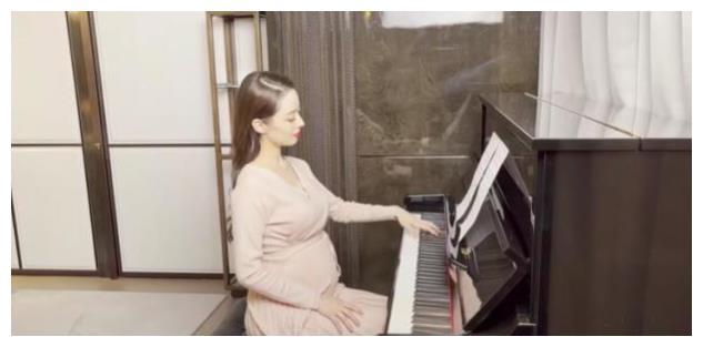 吉娜挺九个月孕肚弹琴,郎朗贴心拍照,网友却称:点名批评还不改