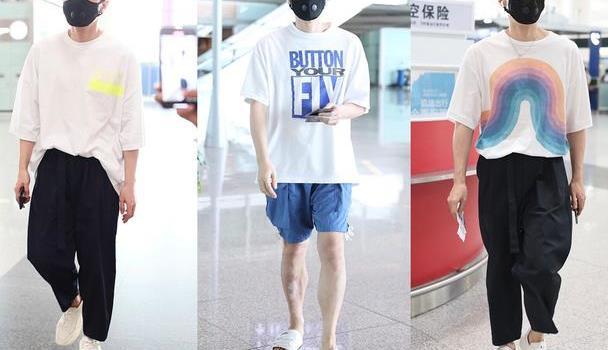 李荣浩夏日清爽造型,短裤+拖鞋舒适个性,简洁单品穿出时髦感