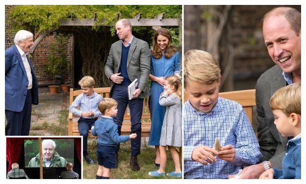 威廉王子和凯特王妃一家亮相阿滕伯勒新片《地球上的生命》首映礼