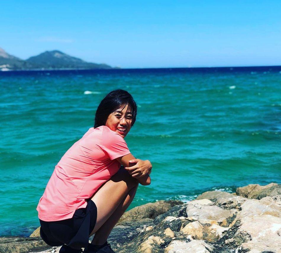 全球网球赛事暂停中,中国女网金花张帅晒风景照,享受难得假期