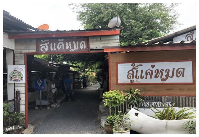 驱车20多公里,去曼谷郊区网红餐馆!盖饭一盘才10泰铢,量忒少
