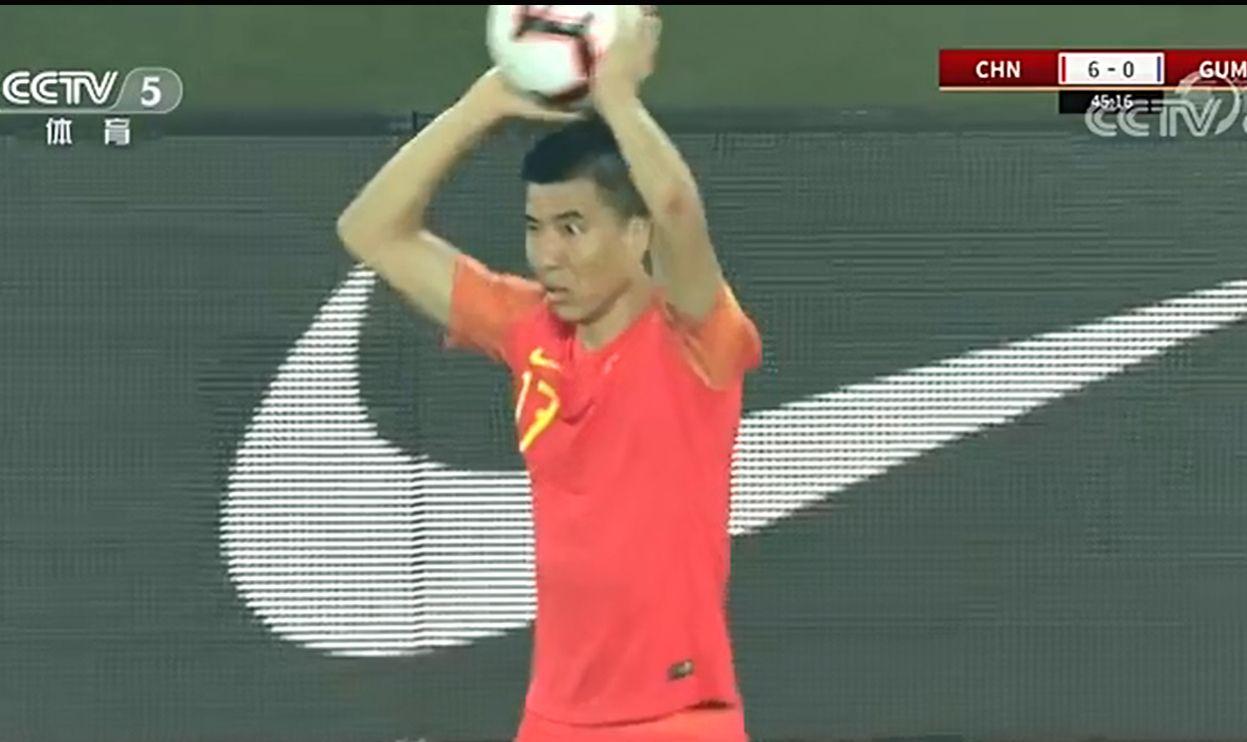 世界杯预选赛,上半场中国队6-0领先关岛
