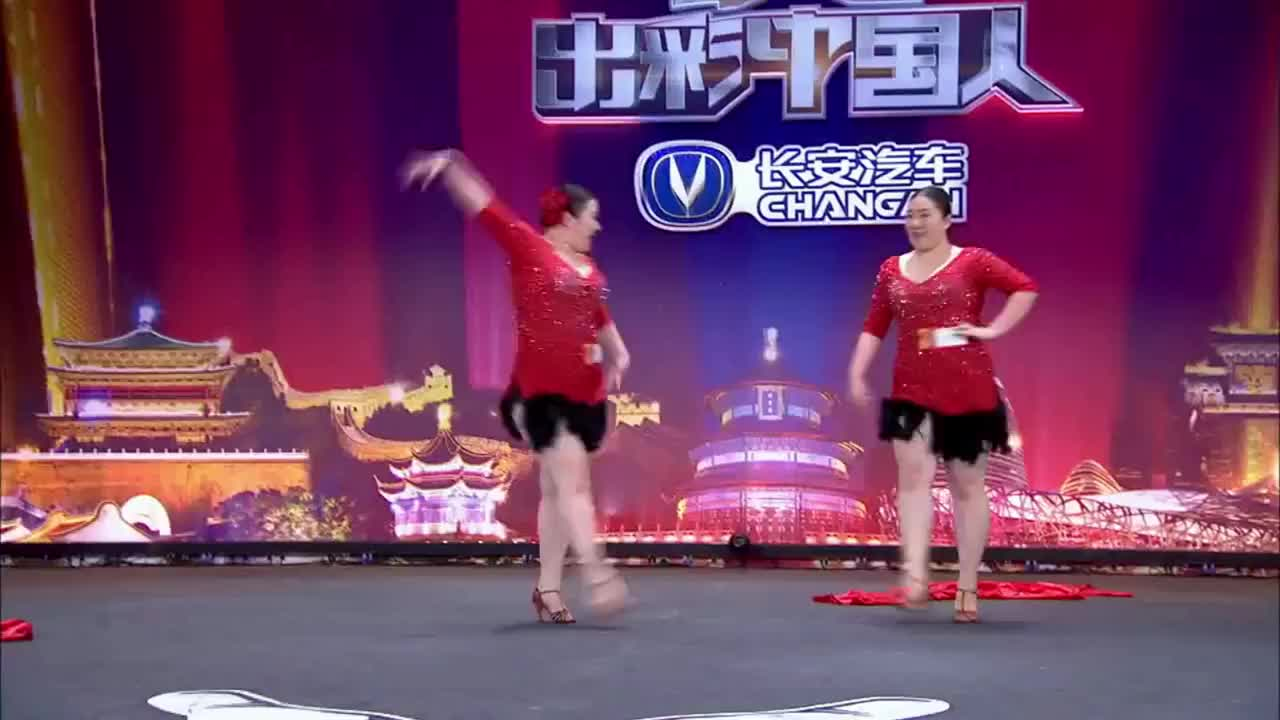 出彩中国人:双胞胎女孩出彩舞台,火辣拉丁舞表演,引范冰冰互动