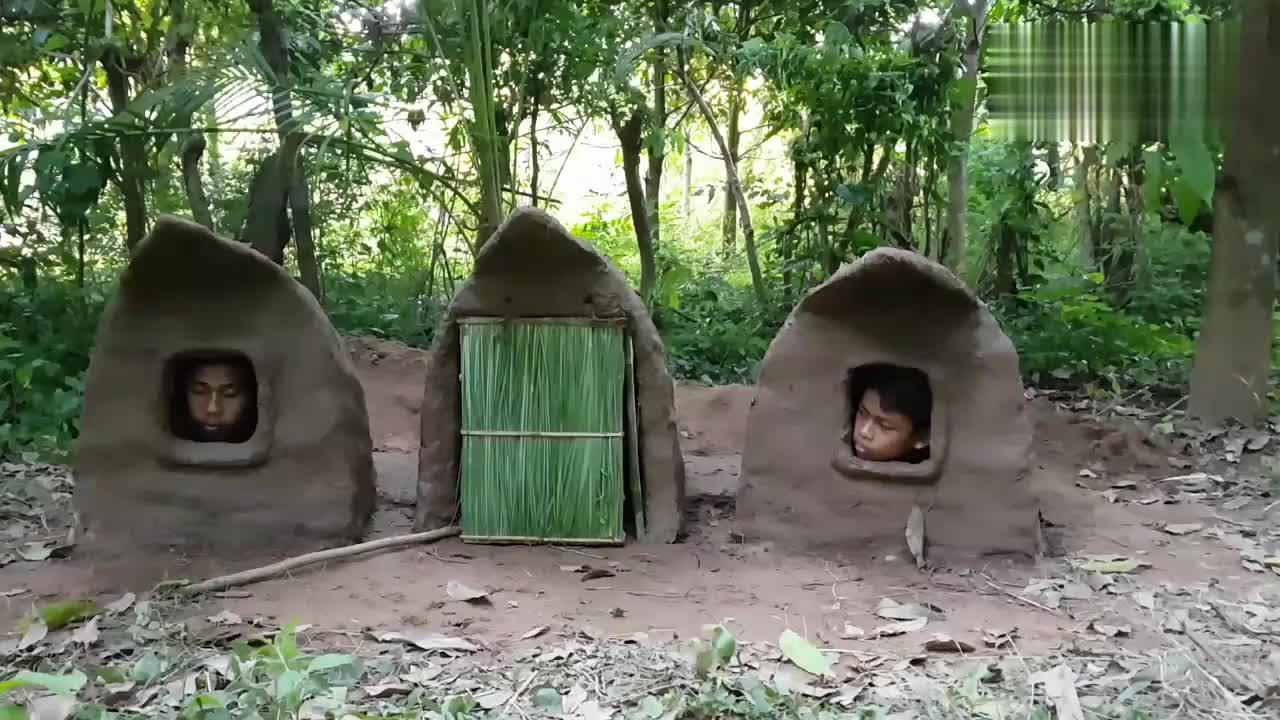 最原始的的庇护所,建造过程很有智慧,可以说是大工程了