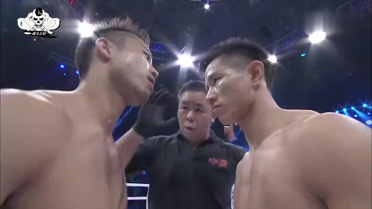 日本拳王摇头晃脑怒目挑衅,中华虎怒勒胳膊KO强敌,扬我国威