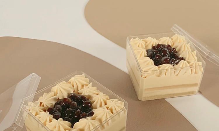 黑糖啵啵伯爵奶茶鲜奶盒子