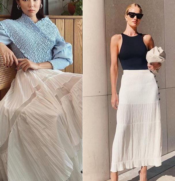 谁说旧衣服就不时尚了,这条百褶裙从春天流行到秋天,百搭还显瘦