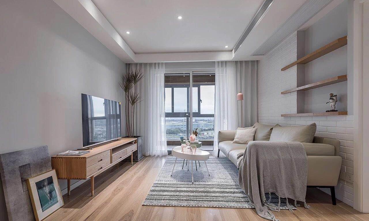 93平北欧风三居室,有清新自然的原木空间,简洁的收纳