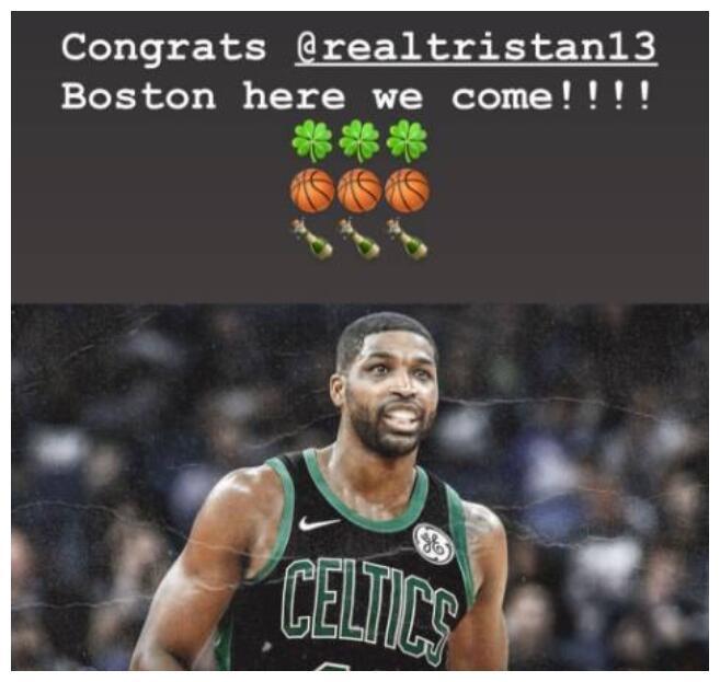 金-卡戴珊祝贺TT签约:波士顿我们来了