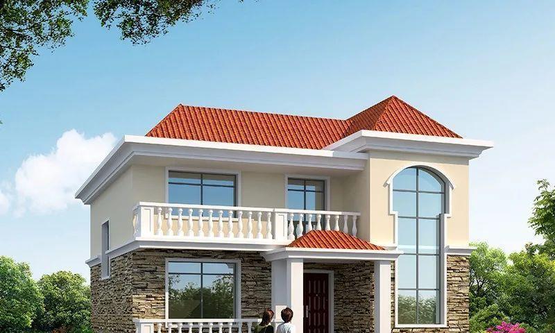 两栋宽11米多的二层别墅,第一栋有落地窗,简约实用款