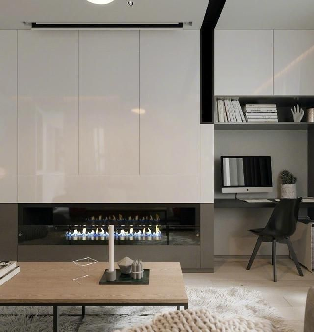 78㎡简约小户型设计就是这么有格调,喜欢客厅背景墙的抽象画