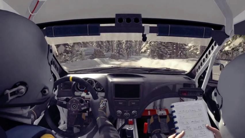 尘埃拉力赛第一次驾驶斯巴鲁WRSsti跑雪地赛道一个字刺激